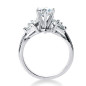 Goldara, 18k marquise side stones engagement ring