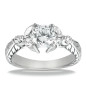 Goldara,18k marquise side stones engagement ring